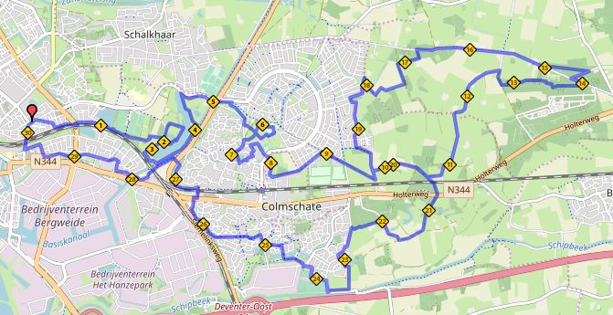 Route 27 april 30 km